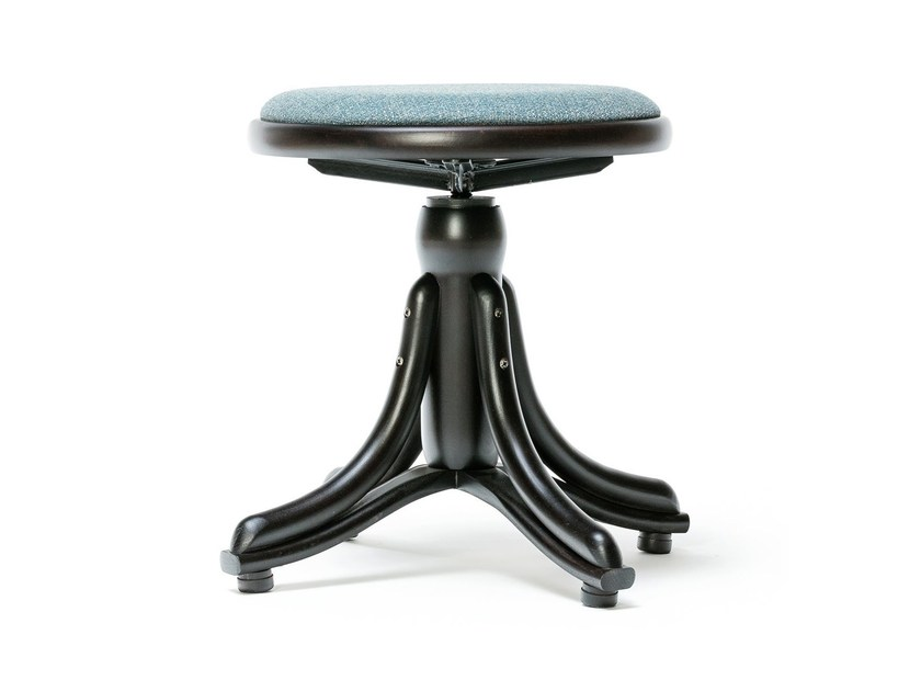 Wooden stool PIANO | Stool with integrated cushion by TON