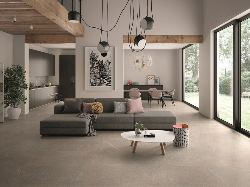 Porcelain stoneware wall/floor tiles with stone effect PIASE FIAMMATA by EmilCeramica by Emilgroup