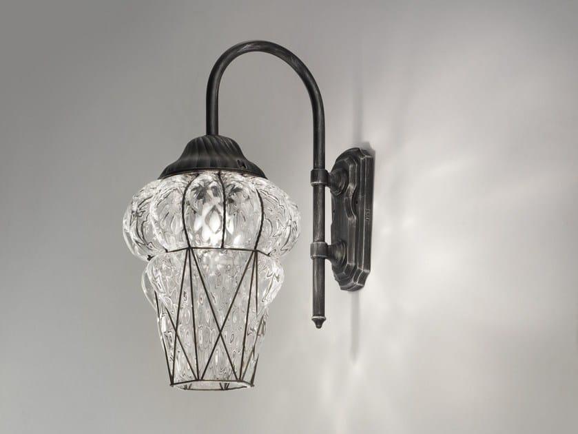 Murano glass wall lamp PIAZZA EB 114 by Siru