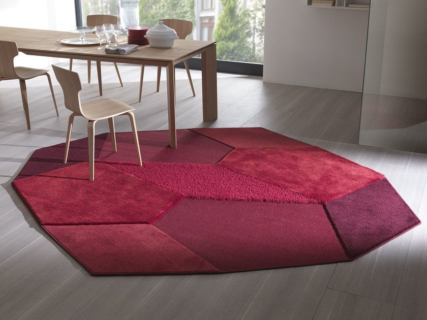 Handmade fabric rug PICCADILLY by Besana Moquette