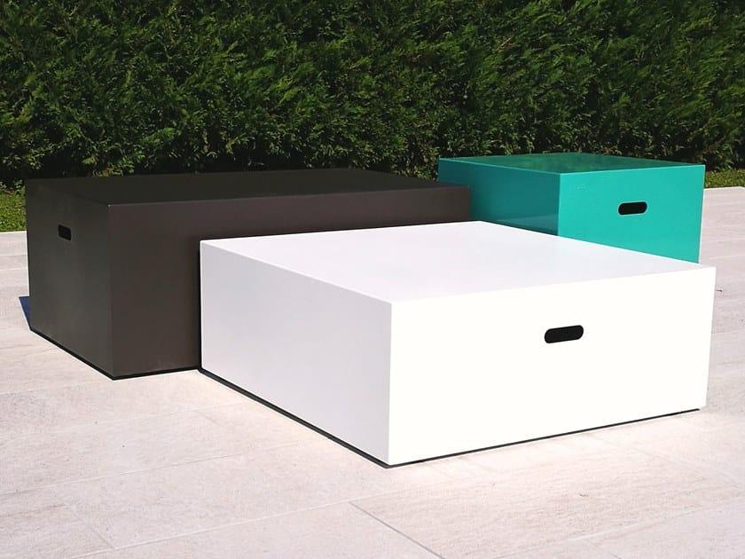 Tavolino da giardino in acciaio inox PICK UP by BLOSS