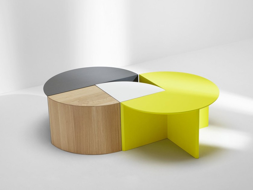 Modular coffee table PIE CHART SYSTEM by H Furniture