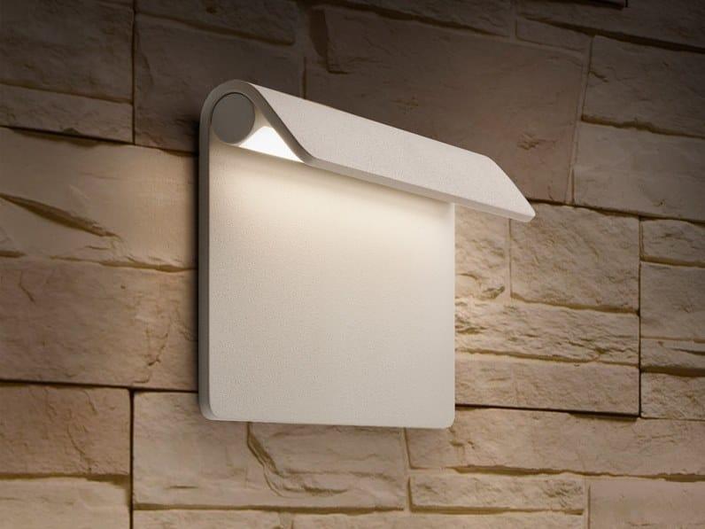Segnapasso a LED a parete in alluminio per esterni PIEGA 80 IP67 by DGA