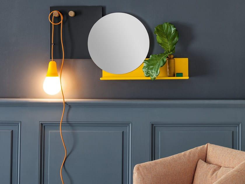 Round wall-mounted hall mirror PIERS by Bonaldo