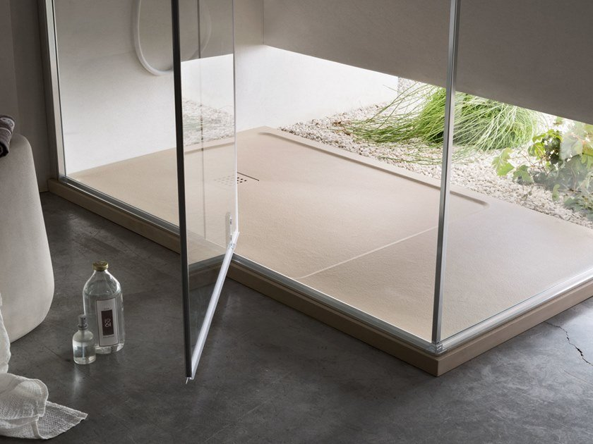 Anti-slip shower tray PIETRA by Arcom