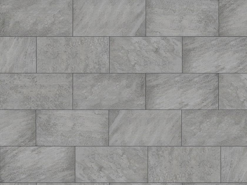 Porcelain stoneware outdoor floor tiles with stone effect PIETRA GREY 3 CM by GRANULATI ZANDOBBIO