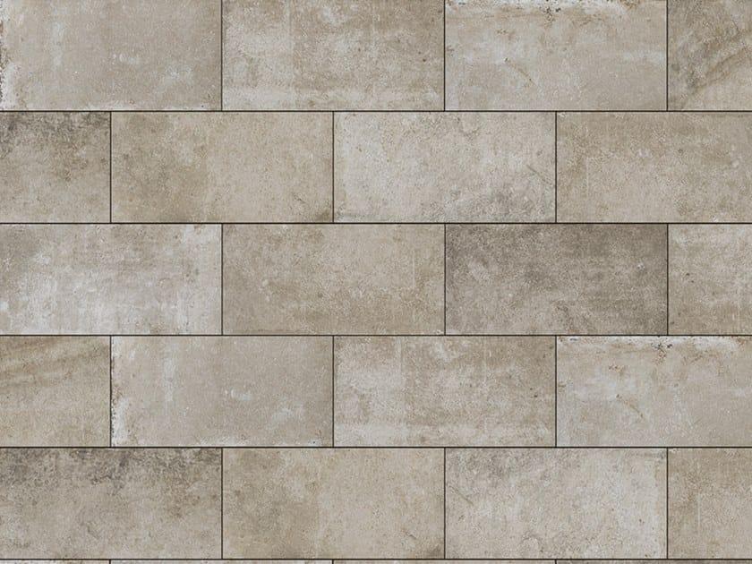 Porcelain stoneware outdoor floor tiles with stone effect PIETRA MOKA 3 CM by GRANULATI ZANDOBBIO
