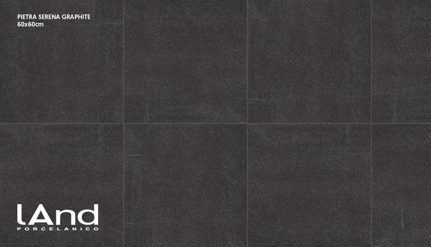 Technical porcelain wall/floor tiles with stone effect PIETRA SERENA GRAPHITE by Land Porcelanico