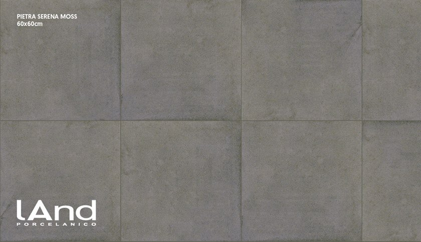 Technical porcelain wall/floor tiles with stone effect PIETRA SERENA MOSS by Land Porcelanico