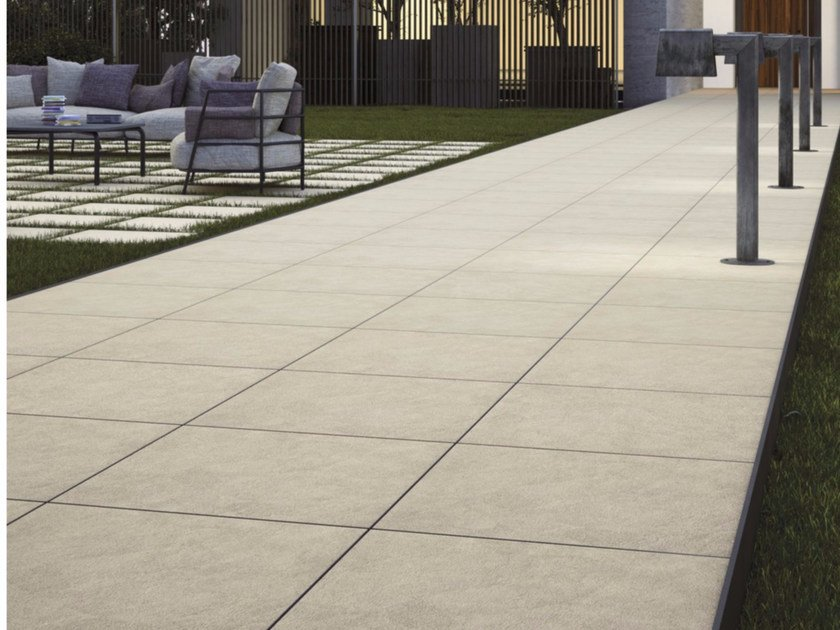 Porcelain stoneware outdoor floor tiles with stone effect PIETRA SONORA by GranitiFiandre