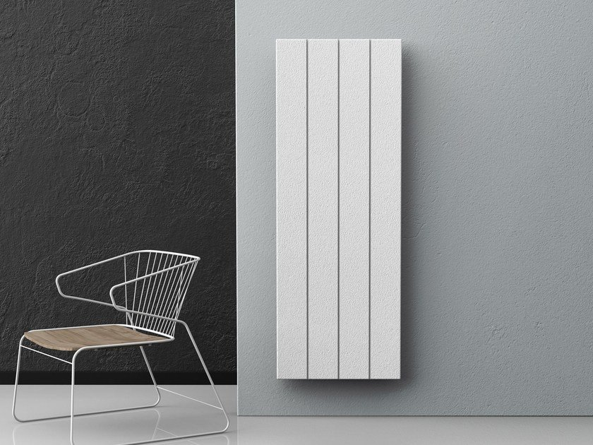 Dual energy vertical wall-mounted decorative radiator PIETRO | Vertical radiator by Radiatori 2000