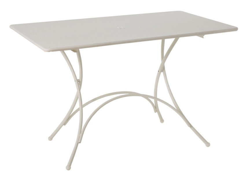 Folding rectangular steel table PIGALLE by emu