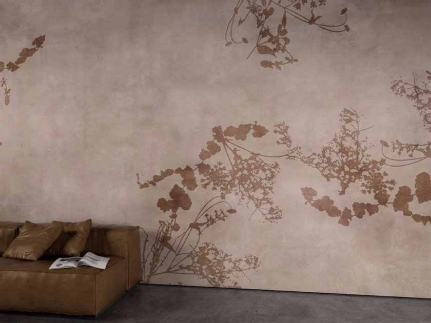 Washable vinyl wallpaper with floral pattern PIGALLE by GLAMORA