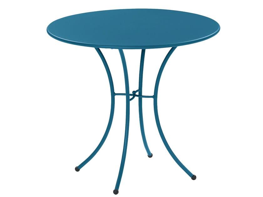 Tavolo da giardino rotondo in acciaio PIGALLE | Tavolo rotondo by emu
