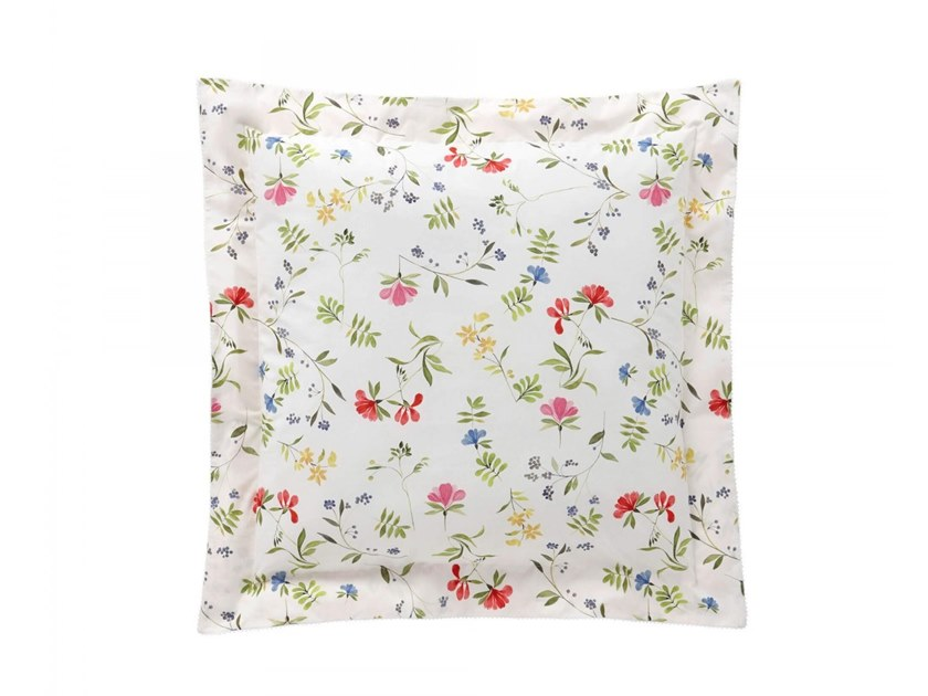 Printed cotton pillow case with floral pattern RENAISSANCE | Pillow case by Alexandre Turpault