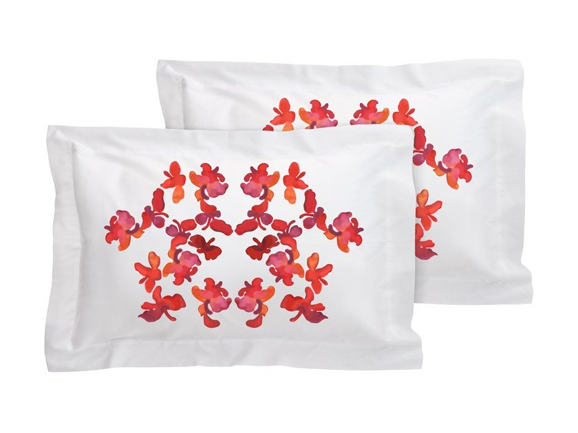 Cotton pillow case set with floral pattern BUTTERFLY | Pillow case by Sans Tabù