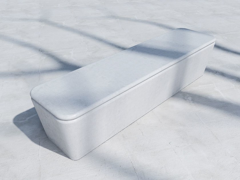 Panchina in calcestruzzo fibrorinforzato senza schienale PILLOW | Panchina in calcestruzzo fibrorinforzato by SIT