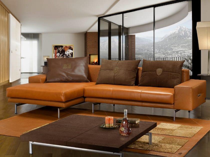 Sectional Sheepskin sofa with chaise longue PILOT | Sofa by Tonino Lamborghini Casa