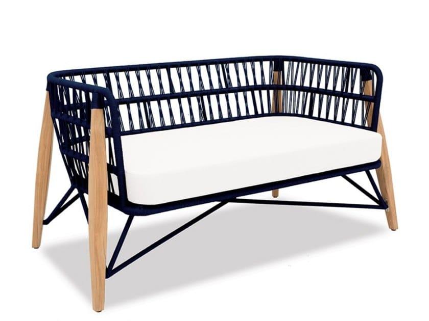 2 seater rope garden sofa PIMLICO   2 seater garden sofa by Indian Ocean