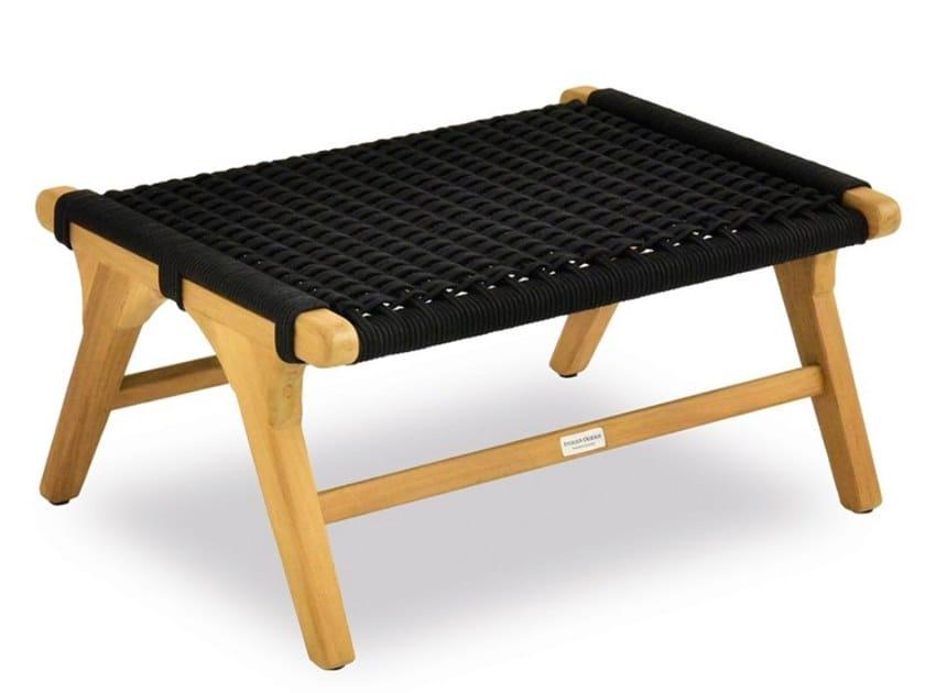Rope coffee table / garden footstool PIMLICO | Garden footstool by Indian Ocean