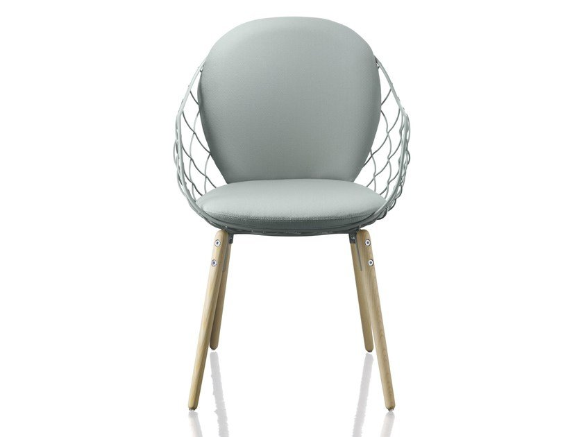 Steel And Wood Chair With Armrests PIÑA | Chair By Magis