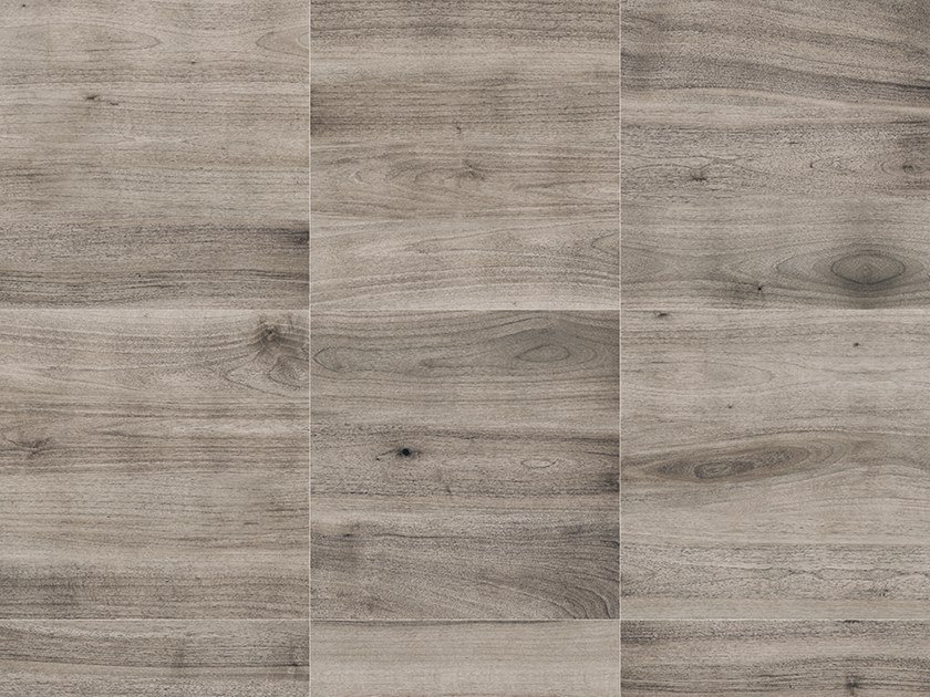 Porcelain stoneware outdoor floor tiles with wood effect PINETA GRIGIO by GRANULATI ZANDOBBIO