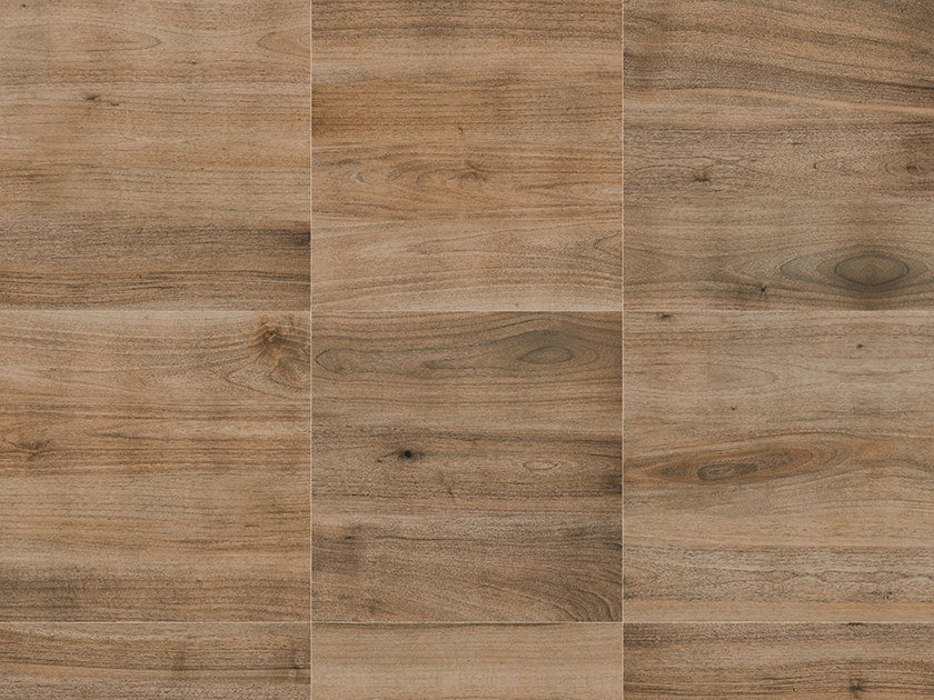 Porcelain stoneware outdoor floor tiles with wood effect PINETA MARRONE by GRANULATI ZANDOBBIO
