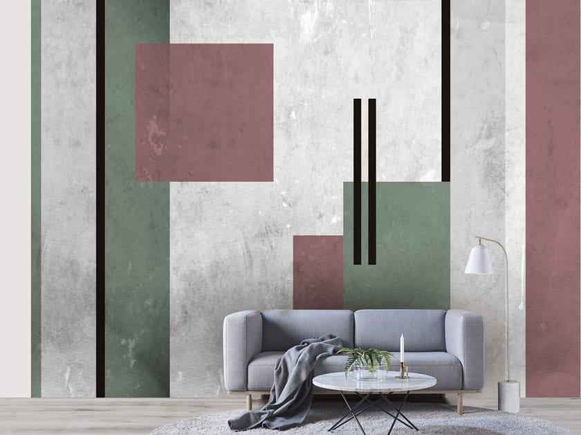 Wall tiles / wallpaper PINK AND GREEN by Officinarkitettura®