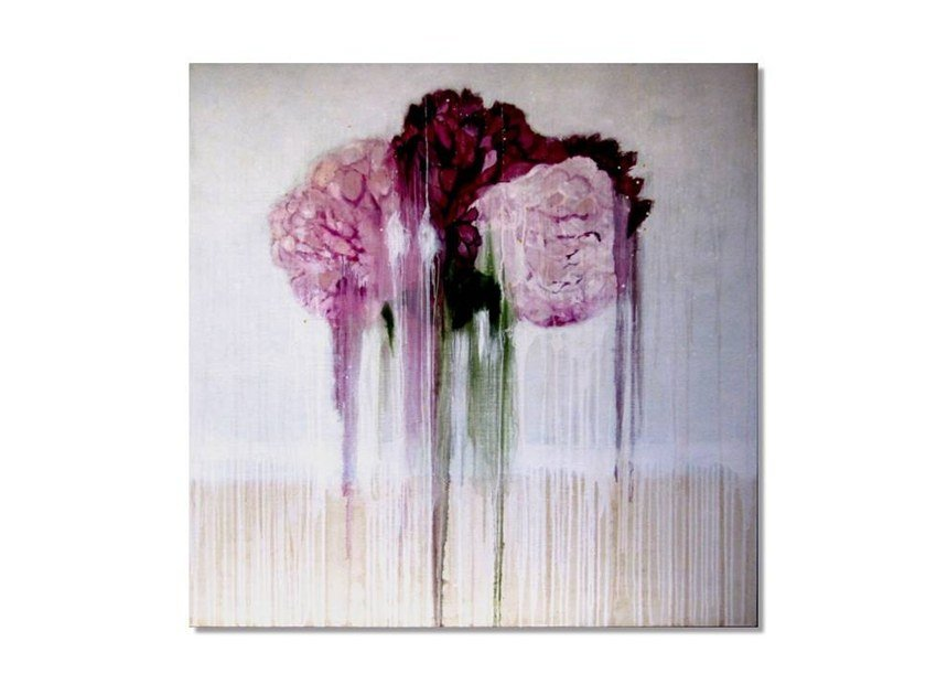 Oil and mixed technique on canvas PINK PEONIES by ICI ET LÀ