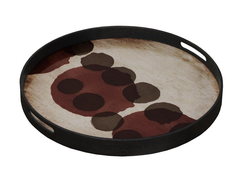 Round glass tray PINOT LAYERED DOTS by Notre Monde