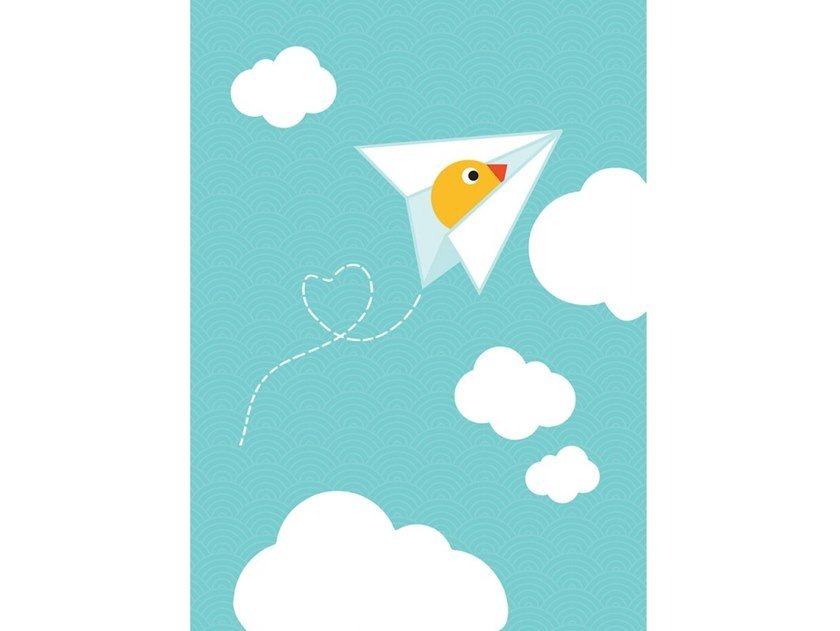 Fabric Canvas print PIOU AVION by ACTE-DECO