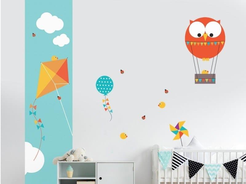 Fabric kids wallpaper PIOU CERFVOLANT by ACTE-DECO