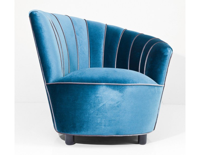 50s style upholstered fabric armchair PIPE | Armchair by KARE-DESIGN
