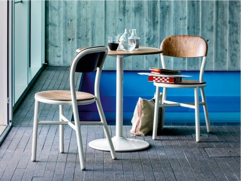 Wood veneer chair PIPE   Wood veneer chair by Magis