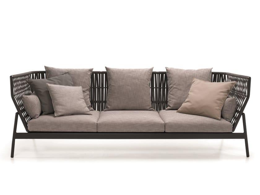 3 seater polyester garden sofa PIPER | Garden sofa by RODA
