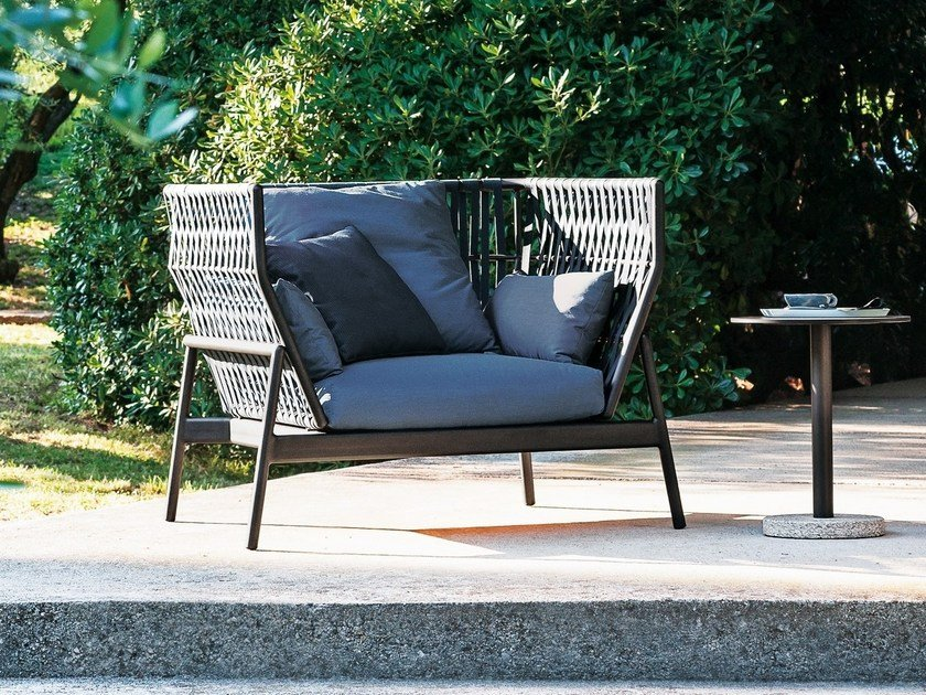 High-back aluminium garden armchair PIPER | High-back garden armchair by  RODA - PIPER High-back Garden Armchair Piper Collection By RODA