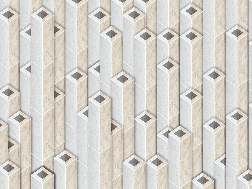 Industrial style Ecological washable PVC free wallpaper PIPES by Wallpepper