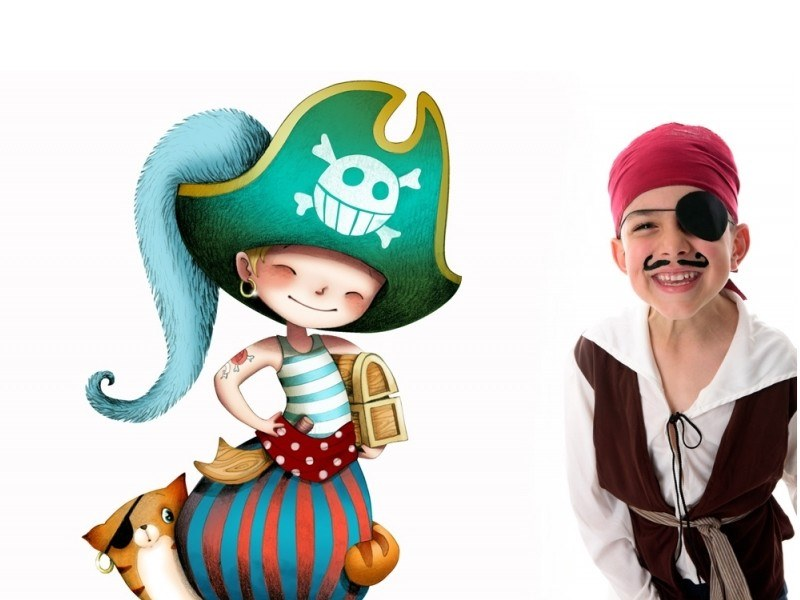 Kids wall sticker PIRATE AND CAT by ACTE-DECO