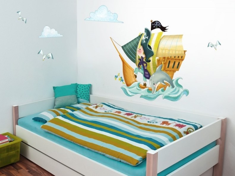 Kids wall sticker PIRATE SHIP by ACTE-DECO