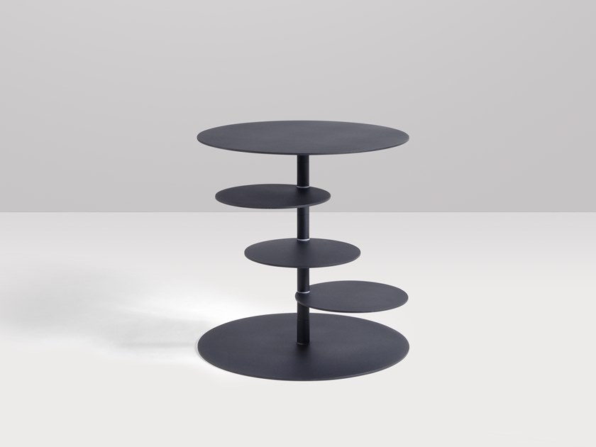Round metal coffee table PIROUETTE | High side table by Recor Home