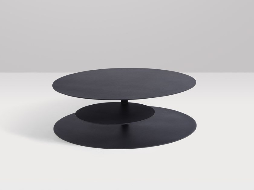 Round metal coffee table PIROUETTE | Low coffee table by Recor Home