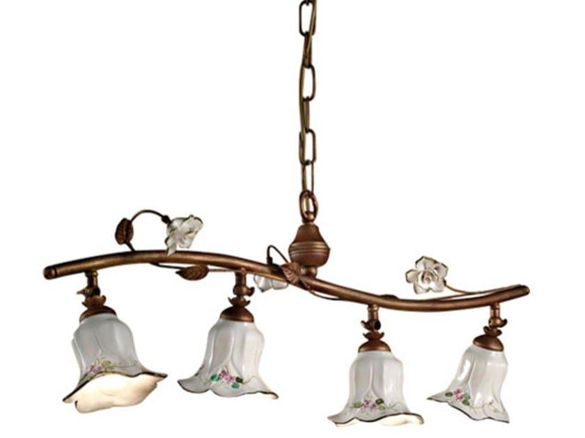 Swivel ceramic chandelier PISA | Swivel chandelier by FERROLUCE