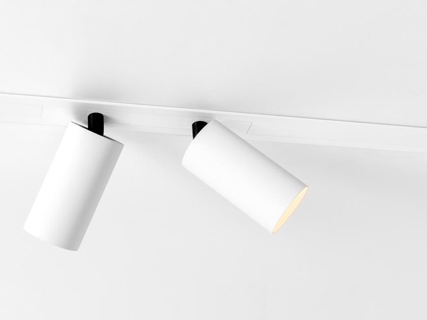 Illuminazione a binario in alluminio verniciato a polvere a incasso PISTA RECESSED FLANGE by Modular Lighting Instruments