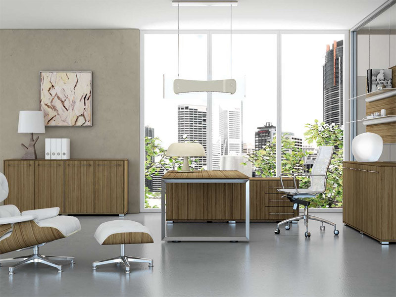L-shaped office desk with drawers PITAGORA PAC20 by Arcadia