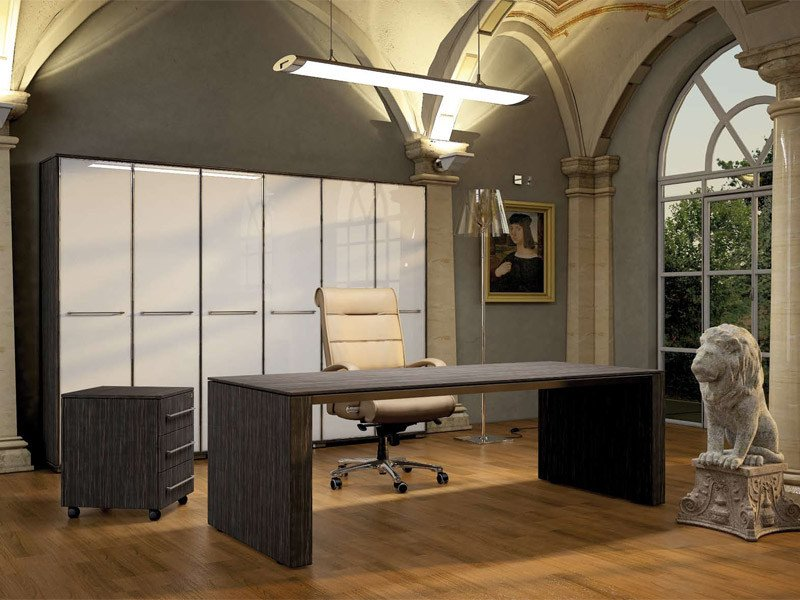 Rectangular MDF office desk PITAGORA PL20/PL22 by Arcadia