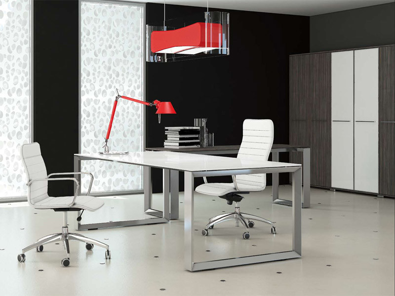 Rectangular crystal office desk PITAGORA PV20/PV22 by Arcadia