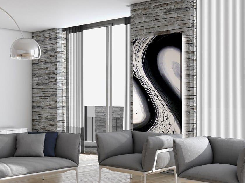 Electric wall-mounted aluminium panel radiator PITTURA MATERICA - P A00303 by Termoarredo Design