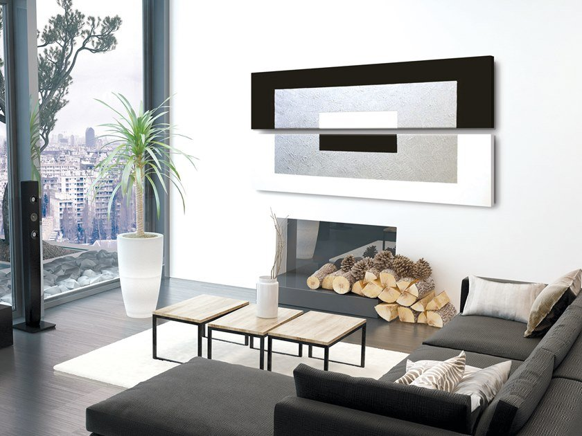 Electric wall-mounted aluminium panel radiator PITTURA MATERICA -  P G002014-5 by Termoarredo Design