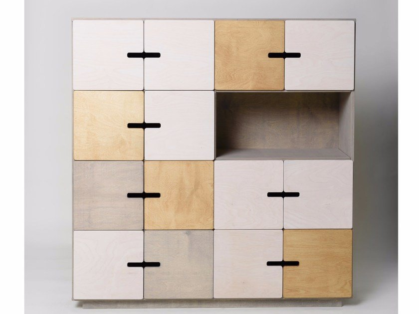 Highboard with doors PIX 4 x 4 by Radis