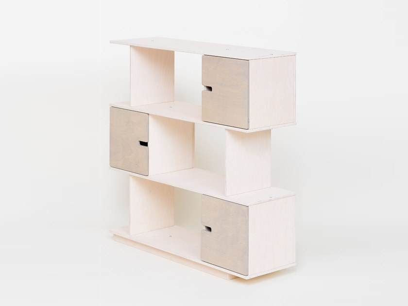 Open divider shelving unit with drawers PIX | Shelving unit by Radis